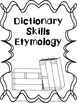 Middle School Dictionary Skills - Notes and Practice
