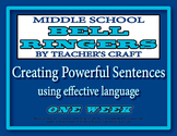Middle School ELA Bell Ringers - Creating Powerful Sentences