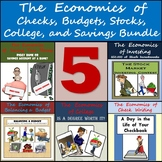Middle School Economics Bundle: Checks, Budgets, Stocks, C
