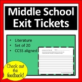 Middle School Exit Tickets