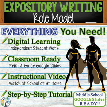 EXPOSITORY WRITING PROMPT - Role Model - Middle School