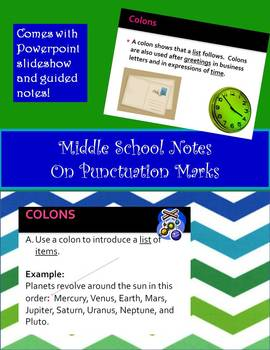 Middle School Grammar Guided Notes on Punctuation Marks