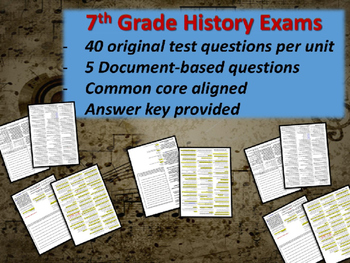 Middle School History Exams - ROME - 40 Questions, Common