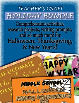 Middle School Holiday BUNDLE ELA/Social Studies