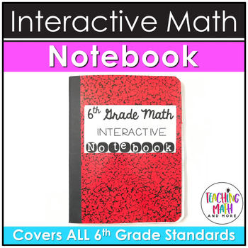 Middle School Interactive Math Notebook: 6th Grade BUNDLE