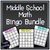 Middle School Math Bingo Bundle