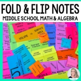 Middle School Math Foldable Style Notes
