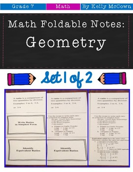 Middle School Math Foldable Notes: Geometry {Grade 7: Set 1}