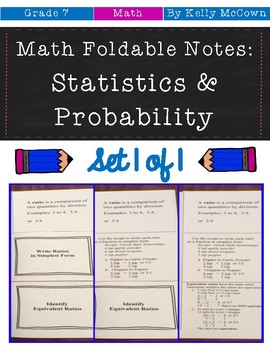 Middle School Math Foldable Notes: Statistics & Probabilit