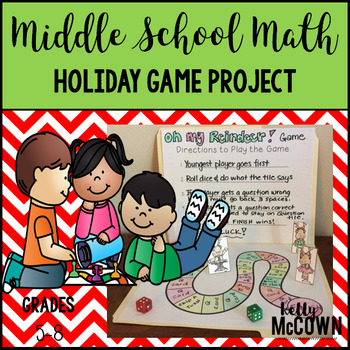 Middle School Math Holiday Game Project {Reindeer Games}