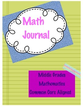 Middle School Math Journal ~ High-Level Open-Ended Questio