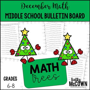 Middle School Math NO PREP Bulletin Board {December}