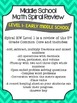 Middle School Math Spiral Review 1