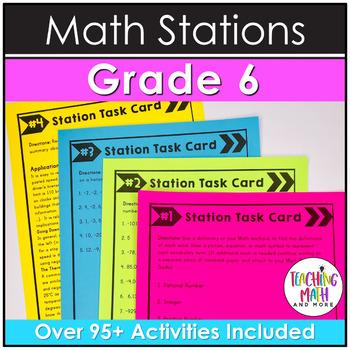 Middle School Math Stations: 6th Grade BUNDLE