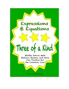 """Common Core Math Stations and Games - """"3 of a Kind"""" Expres"""