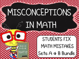 Common Core ~ Middle School Math ~ Students Fix Math Mista