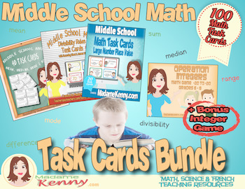Middle School Math Task Cards