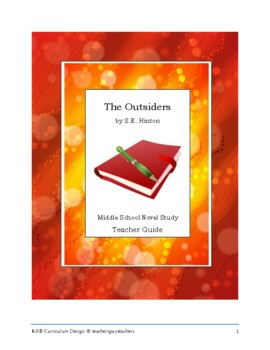 Middle School Novel Study (THE OUTSIDERS)--Common Core Aligned