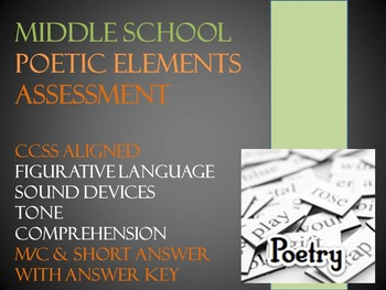 Middle School Poetic Elements Assessment