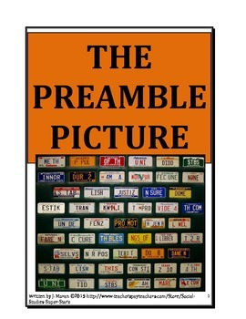 Middle School-Constitution Preamble Picture Assignment