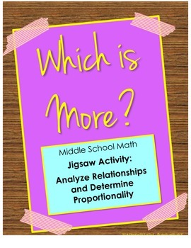 Middle School Proportional Reasoning Jigsaw - Which is More?
