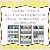 Middle School QR Code Bookmark Book Trailers Set #3