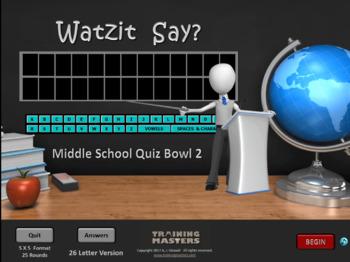 Middle School Quiz Bowl 2  (Evaluation Version)