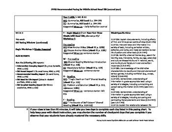 Middle School Read 180 Pacing Guide (Year 2)