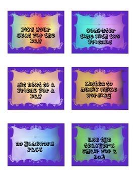 Middle School Reward Cards FREE!