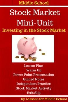 Middle School- Stock Market Mini-Unit