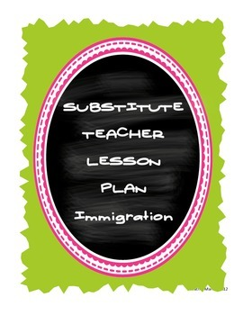 FREEBIE! Middle School Substitute Teacher Lesson Plan - Im