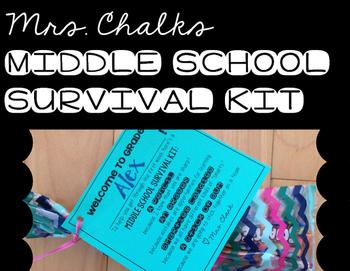 Middle School Survival Kit Tags