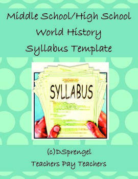 Middle School/High School Social Studies World History Syl