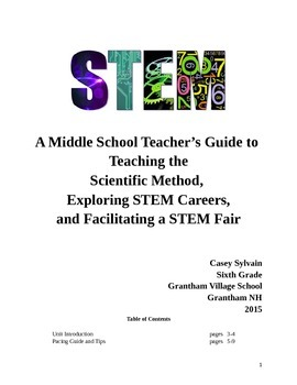 Middle School/Upper Elementary Scientific Method and STEM