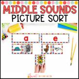 Middle Sound Picture Sort {Short Vowels}