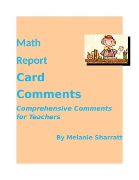 Middle Years Math Comprehensive Report Card Comments