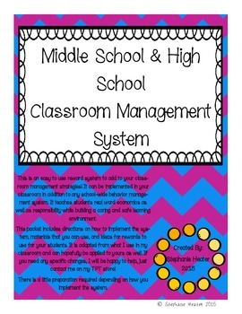 Middle and High School Classroom Management System