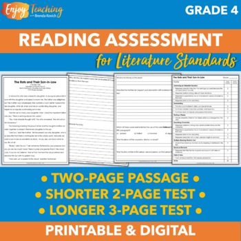 Middle of Year Reading Assessment for Fourth Grade
