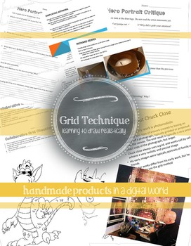 Middle or High School Art Project: Grid Method Drawing Unit