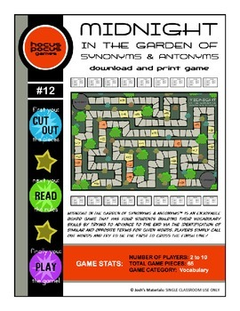 Midnight In the Garden of Synonyms & Antonyms (Download &
