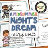 Midsummer Night's Dream Word Wall