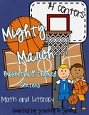 Mighty March Basketball Math and Literacy Centers (14 Centers!)