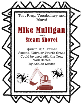 Mike Mulligan and his Steam Shovel - Vocabulary, Comprehen
