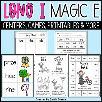 Mike's Bike {long i, magic e activity pack!}