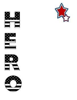 Military Hero Writing Set