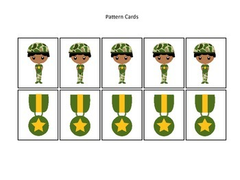 Military Support Our Troops themed Pattern Cards #2 presch