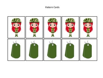 Military Support Our Troops themed Pattern Cards #4 presch
