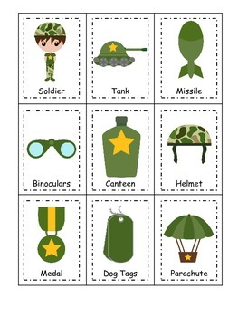 Military Support Our Troops themed Three Part Matching pre
