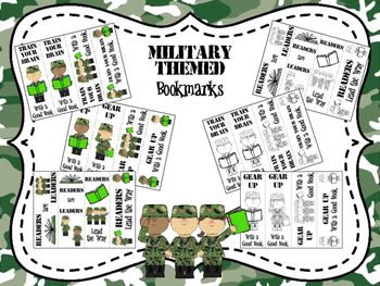 Military Themed Bookmarks