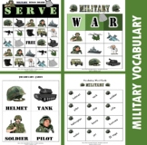 Military Veteran's / Memorial Day Bingo Game with flashcards